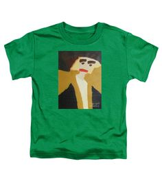 Patrick Francis Kelly Green Designer Toddler T-Shirt featuring the painting The Graduate 2014 by Patrick Francis