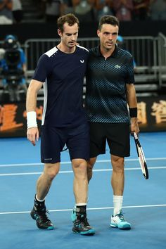 Day 1: Andy Murray of Great Britain congratulates Roberto Bautista Agut of Spain following their first round match during day one of the 2019 Australian Open at Melbourne Park on January 14, 2019 in Melbourne, Australia.