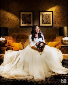 """Sitting Pretty:  Portrait of MaReine shortly after saying """"I DO"""" to Hubby: Nnamdi, at their recent wedding in West London."""
