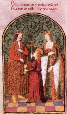 Los Reyes Católicos (Fernando II de Aragón e Isabel I de Castilla).