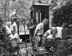 NBC broadcast the 150th anniversary celebration at Hagley of DuPont over the radio. Hagley Digital Archives.