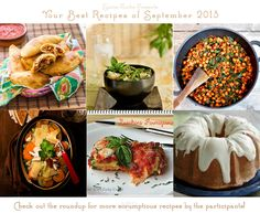September's YBR Roundup: Your Best Recipe event on SpicieFoodie.com -- There's something for everyone!!