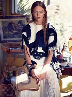 Vogue US Fevereiro 2014 | Sasha Pivovarova por Mikael Jansson [Editorial]