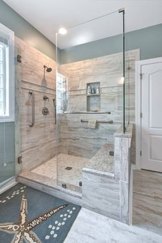 Bathroom 15 - Beach Style - Bathroom - Charleston - by Kitchens, Baths & Beyond - Bathroom Ideas Shower Remodel, Remodel, Bathroom Makeover, Bathroom Styling, Diy Bathroom Decor, Bathroom Interior, Farmhouse Master Bathroom, Bathroom Shower, Tile Bathroom