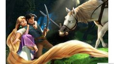 Tangled Rapunzel and Flynn and Maximus