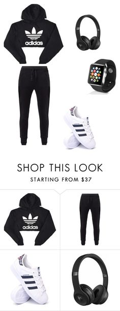 """""""Untitled #50"""" by samariowens on Polyvore featuring adidas, MANGO, Beats by Dr. Dre and Apple"""