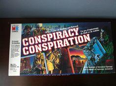 Vintage 1982 Conspiracy Spy Board Game Milton Bradley Complete by MandysFunkyVintage on Etsy