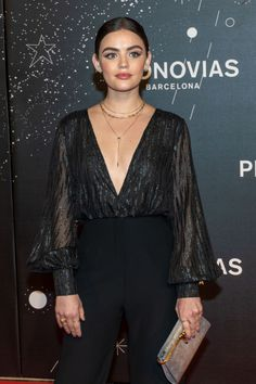 Lucy Hale wearing Miranda Frye's Crescent Necklace while attending the Pronovias Show at Valmont Barcelona Bridal Week over the weekend! Lucy Hale Outfits, Lucy Hale Style, Bridal Fashion Week, Celebrity Look, Chic Outfits, Fashion Dresses, Fashion Looks, Celebs, How To Wear