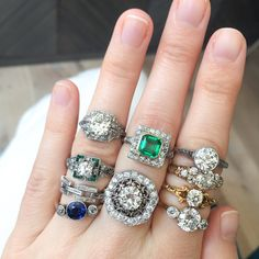 Vintage engagement rings found and collected by Erstwhile
