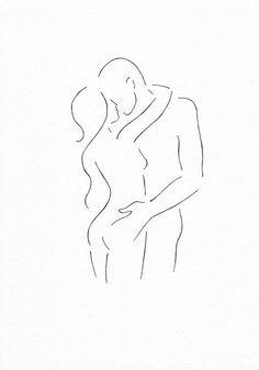 Original line drawing. Black and white art. Minimalist Drawing, Minimalist Art, Line Drawing, Painting & Drawing, Painting Inspiration, Art Inspo, Doodle Drawings, White Art, Erotic Art