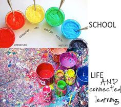 School vs. Life & Connected Learning