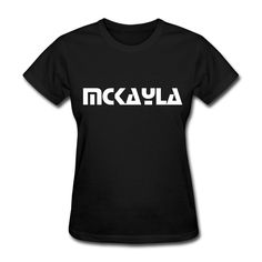 McKayla - Interested Font Personalized T-Shirt  This item can be custom made with any name or phrase. Email info@name-tees.com to discuss.