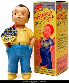 Georgie the Whistling Boy - 1950s - made by Irwin Plastics