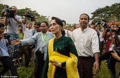 Aung San Suu Kyui is barred from the presidency due to a constitutional clause that  excludes anyone from the job who has a foreign spouse or children