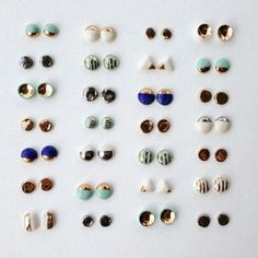 Porcelain studs by Amber E Lea www.renegadecraft 2019 Porcelain studs by Amber E Lea www.renegadecraft The post Porcelain studs by Amber E Lea www.renegadecraft 2019 appeared first on Clay ideas. Polymer Clay Earrings, Diy Earrings, Stud Earrings, Porcelain Jewelry, Ceramic Jewelry, Bijoux Design, Jewelry Design, Diy Jewelry Tutorials, Ideias Diy