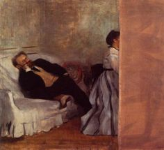 Art. Mr. and Mrs. Manet by Degas