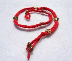 Love and Protection Red and Gold Studded Wraparound. by SonPrendas, $10.00