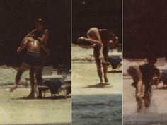 1983-05 Diana and Charles frolicking in the surf at Eleuthera Island, Bahamas, after the Australian and New Zealand tours.