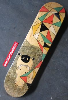 "Perfect for Earth Day, ""Endure the Environment"", designed by Miranda Wilfong, is today's Featured Deck . ""It is a conceptual design about animal extinction and endangerment for an environmental skate company."" Check out Miranda's portfolio at www.mirandawilfong.com.  www.BoardPusher.com"