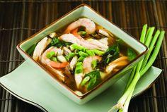 #SchoolYourChicken Recipes - Asian Chicken, Shrimp & Wild Rice Soup » Chicken.ca