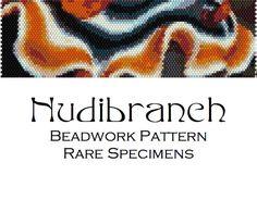 Nudibranch Sea Slug Peyote Stitch Beadwork by RareSpecimens