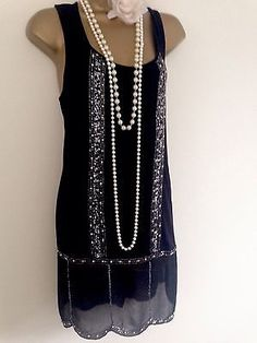 Prochaine-gatsby-downton-1920-tambour-vintage-style-sequins-perles-robe-ou-top-uk-10