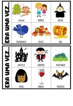 FICHAS PARA PRODUÇÃO DE TEXTO Poetry For Kids, Preschool Colors, English Class, Working With Children, Teaching Spanish, Home Schooling, Conte, Speech Therapy, Professor