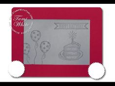 Freaking adorable Etch-a-Sketch card made with Stampin Up Sketched Birthday