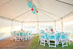 Aqua Wedding Decorations
