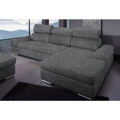 Canapé d'angle méridienne fixe droite ou gauche microfibre Sit