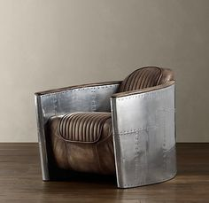 Restoration Hardware: Aviator Chair. That is just too cool.