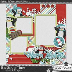 Scrapbooking TammyTags -- TT - Designer - Connie Prince, TT - Item - Quick Page, TT - Theme - Winter or Snow