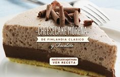Cheesecake morena de finlandia clasico y chocolate. Hacé click aquí para ver…