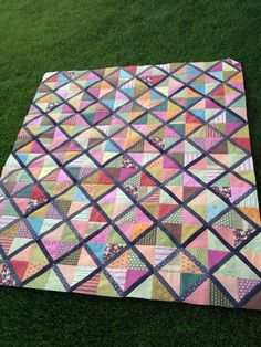 Lattice Quilt made predominately with Hope Valley fabric.