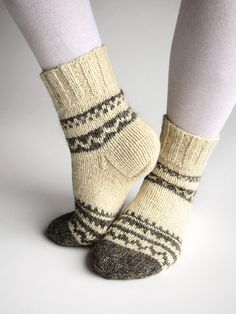 Hand Knitted Wool Socks – 100 % Natural Organic Eco Clothing – Autumn Winter Com… Hand Knitted Wool Socks – 100 % Natural Organic Eco Clothing – Autumn Winter Comfort Wool Socks, Knitting Socks, Hand Knitting, Cute Gifts For Girlfriend, Socks For Sale, Eco Clothing, Boot Toppers, Boot Cuffs, Knitting For Beginners