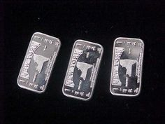 3 1 Gram Silver New York State Bullion Bars 999 Fine Delmarva Mint State Series | eBay