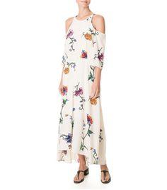 Tibi Beige 'Bella' Floral Dress