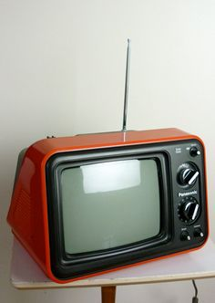 Vintage 1976 Panasonic Red Television by jessjamesjake on Etsy, $75.00