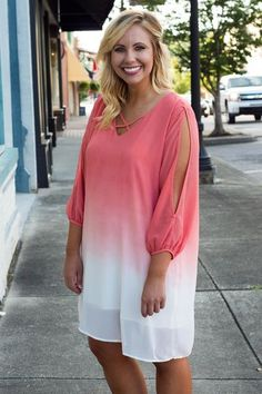 Sweet Sunsets Dress, Coral