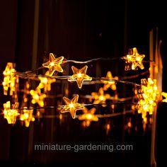 LED Star Light String, 40 inch  #fairy #miniature #garden