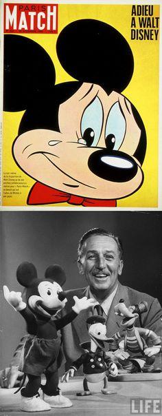 Paris Match magazine cover after Walt Disney's death