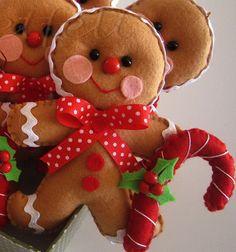 *FELT ART ~ Gingerbread Man Ornament