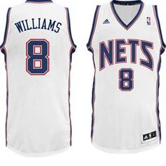Brooklyn Nets  8 Deron Williams Revolution 30 Swingman Home NBA Basketball  Jersey Air Jordan f0e0e6657