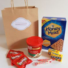 Gingerbread house kit with free printable label.  Makes a fun gift for kids.