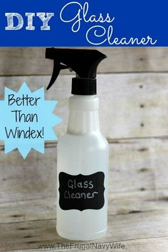 I love this DIY glass cleaner. It's easy to make and saves me money! Plus its streak-free! Cleaner household cleaners DIY Better Than Windex Glass Cleaner