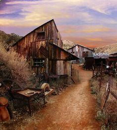 "Arizona Ghost Town...one of my favorite memories is taking a cross country road trip with my (much older) boyfriend and jumping out of the Jeep and having him yell at me- ""don't run through the cactuses!!!!"" it cracked me up."