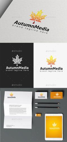 Autumn Media - Logo Design Template Vector #logotype Download it here: http://graphicriver.net/item/autumn-media/9828723?s_rank=1525?ref=nexion