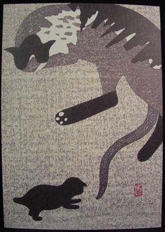 """Cats - Mother Love"" | by  Kiyoshi Saito"