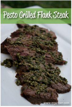 Perfect Pesto Grilled Flank Steak!