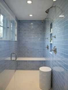 Sky Blue Glass Subway Tile Cool Subway Glass Shower
